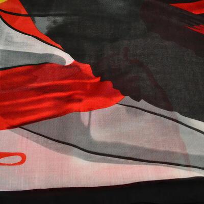 Šál klasický - červeno-čierny - 2