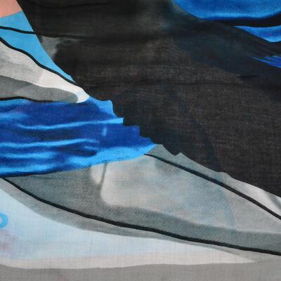 Šál klasický - sivo-modrý - 2