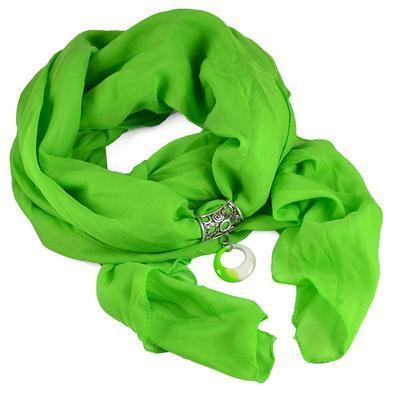 Prívesok na šál up100-51.01 - zelený - 2