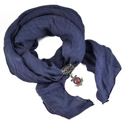 Prívesok na šál up149-32.01 - modrý - 2