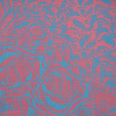 Šál teplý - ružovotyrkysový - 2