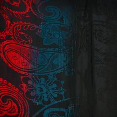 Šál teplý - čierno-červený - 2