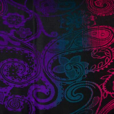 Šál teplý - čierno-fialový - 2