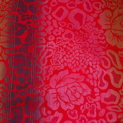 Šál teplý - červený s potlačou - 2