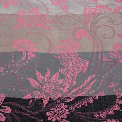 Šál teplý obojstranný - sivo-ružový s potlačou - 2