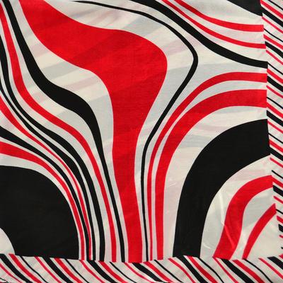 Šatka saténová malá - bieločervená - 2
