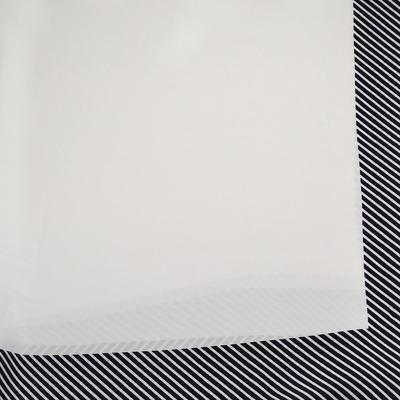 Šatka - čierno-biela s potlačou - 2