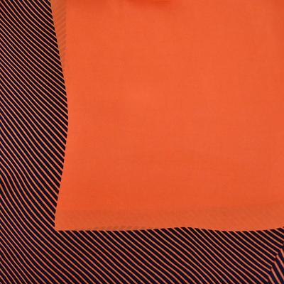 Šatka - oranžová s potlačou - 2