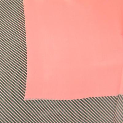 Šatka - ružová s potlačou - 2