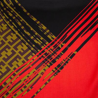 Šatka - červeno-čierna s potlačou - 2