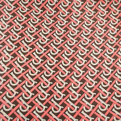 Šatka - hnedo-ružová s potlačou - 2