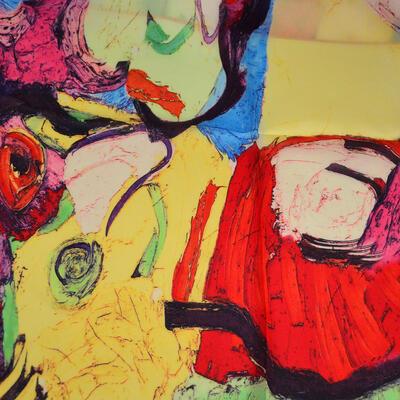 Šatka saténová malá - farebná s potlačou - 2