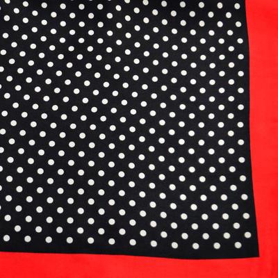 Šatka saténová malá - černočervená - 2