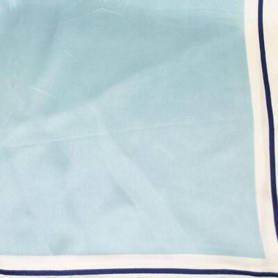 Šatka saténová malá - modro-biela - 2