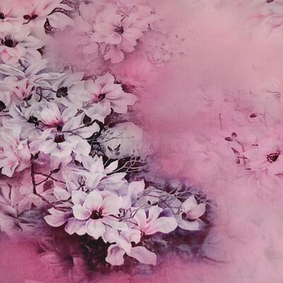 Šatka saténová malá - ružová - 2