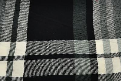 Šál teplý - čiernosivý - 2