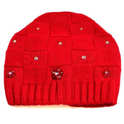 Set šál a čiapky - červený - 3