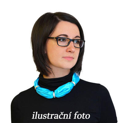 Šatka s bižutériou Sofia 245sof001-22 - vínová - 3