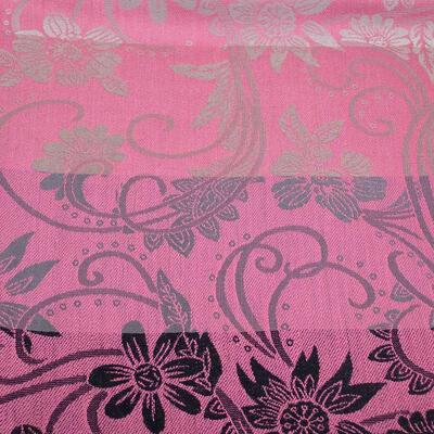Šál teplý obojstranný - sivo-ružový s potlačou - 3