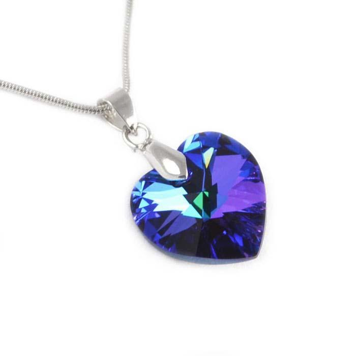 Prívesok Swarovski Elements Srdce 339akt6228-14-30 - modrý - Bijoux Me! 60ff6a8db13