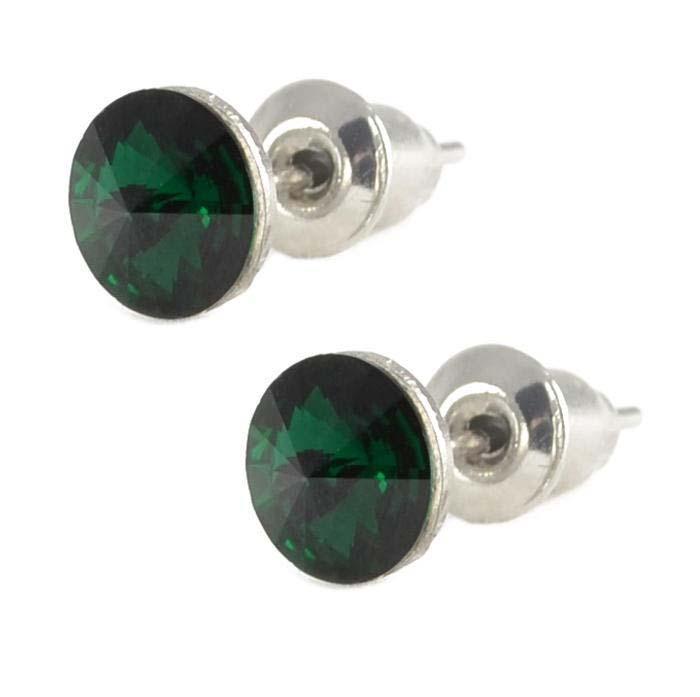 Náušnice Swarovski Elements pecky Rivoli 713fx1122-6-53 - tmavo zelené 6mm b7f2e82d550